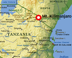 Where Is Kilimanjaro - Africa map kilimanjaro